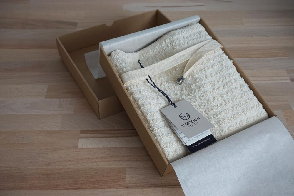 cotton bread bag in a nice box packaging
