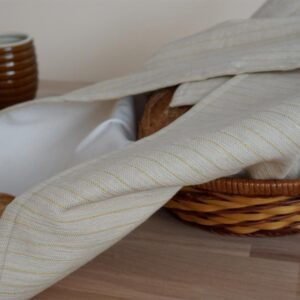 bread cloth with bread in a basket