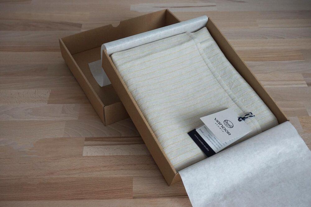bread cloth in a nice box packaging