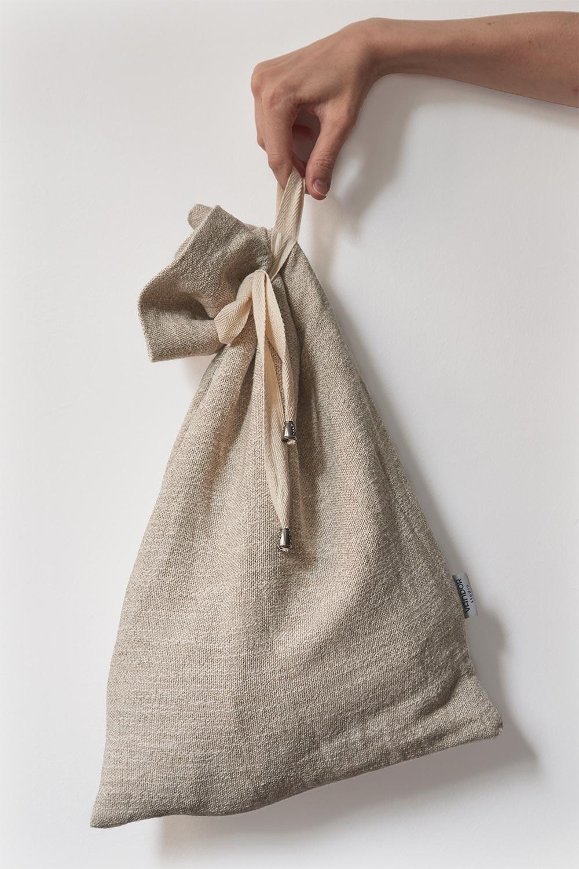 hanging linen bread bag