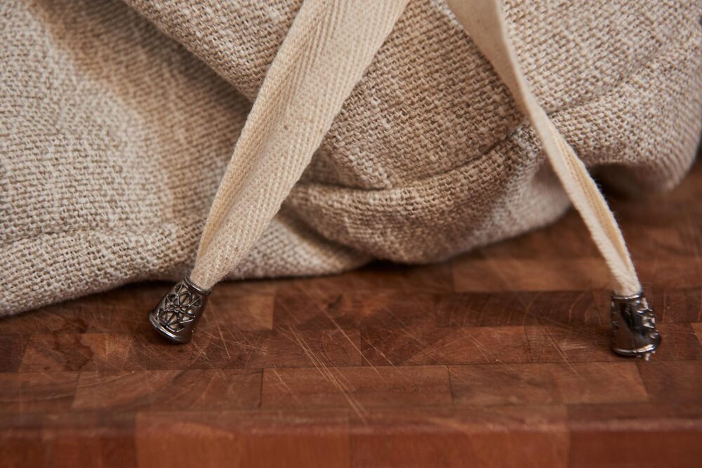 detail of a bread storage bag