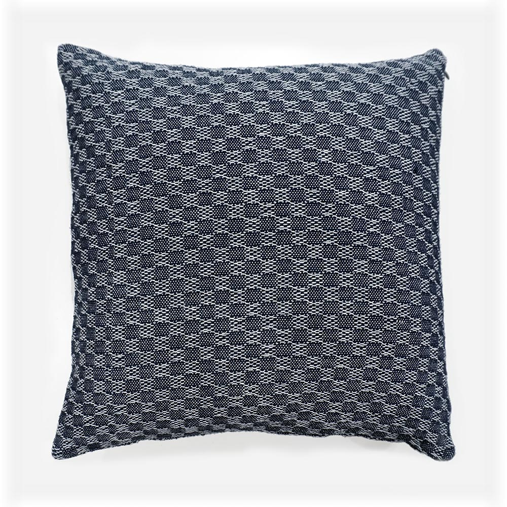 throw pillow with insert in navy blue color