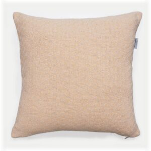 throw pillow with insert in peach color